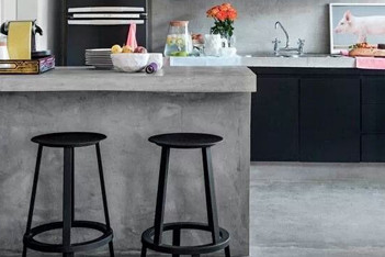 Urbidynamic microcement kitchen